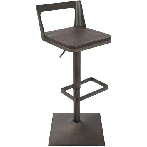 Our Samurai Industrial Height Adjustable Swivel Barstool with Antique Finish - Espresso is on sale now.