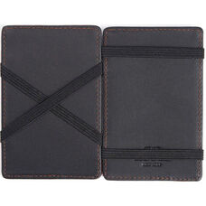 Magic Wallet - Top Grain Nappa Leather - Black and Tan