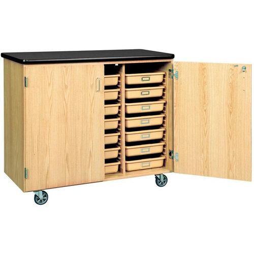 Our Science Lab Mobile Wooden Locking Storage Cabinet with 1.25