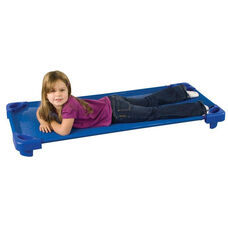 Blue Fully Assembled Standard Stackable Kiddie Cots - 52