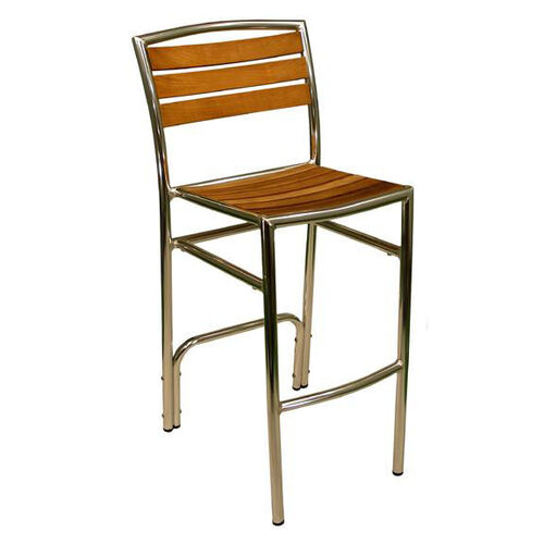 Our Curacao Indoor/ Outdoor Hand Polished Tubular Aluminum Armless Barstool is on sale now.