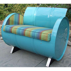 Laguna Steel Drum Armchair with Multicolor Accents