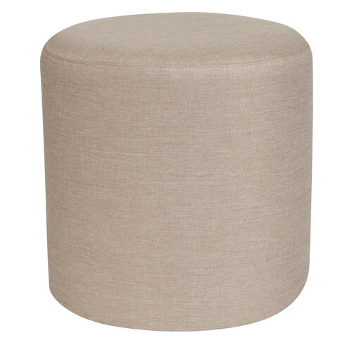 Our Barrington Upholstered Round Ottoman Pouf in Beige Fabric is on sale now.