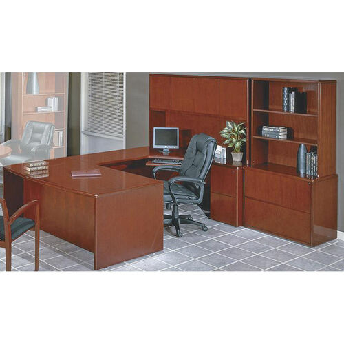 Our OSP Furniture Sonoma Collection U-Shaped Desk with Hutch and Storage Unit - Cherry is on sale now.