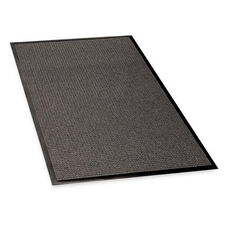 Genuine Joe Indoor -Outdoor Mat - Rubber Cleated Backing - Charcoal