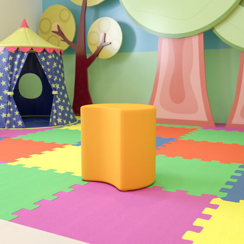 """Soft Seating Collaborative Moon for Classrooms and Common Spaces - 18"""" Seat Height (Yellow)"""