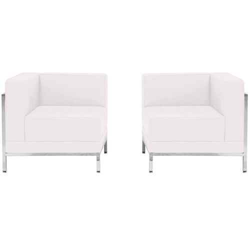 Our HERCULES Imagination Series Melrose White LeatherSoft 2 Piece Corner Chair Set is on sale now.