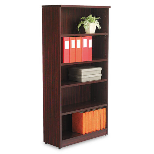 Our Alera® Valencia Series Bookcase - Five-Shelf - 31 3/4w x 14d x 65h - Mahogany is on sale now.