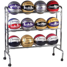 12 Count Basketball Cart