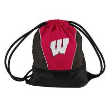 University of Wisconsin Team Logo Spring Drawstring Backsack