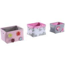 Multiple Size Fabric Storage Box - Multi Colored