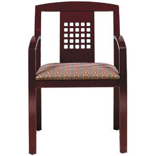 Quick Ship Contempo Puzzle Back Arm Chair