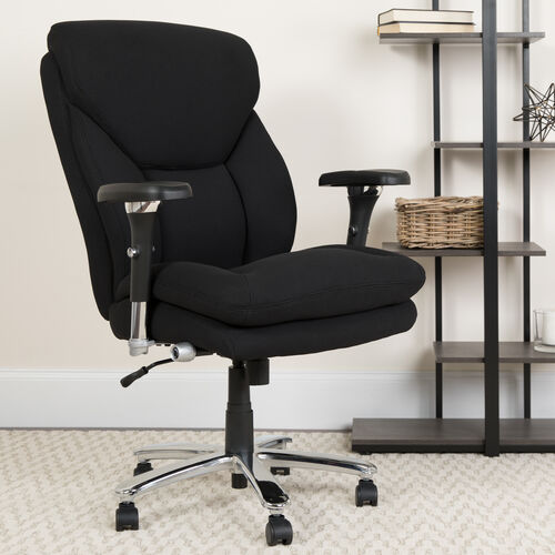 HERCULES Series 24/7 Intensive Use Big & Tall 400 lb. Rated High Back Executive Swivel Ergonomic Office Chair with Lumbar Knob and Large Triangular Shaped Headrest