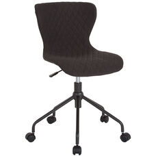 Somerset Home and Office Upholstered Task Chair in Black Fabric