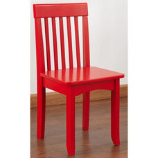 Avalon Classic Style Solid Wood Kids Chair - Red