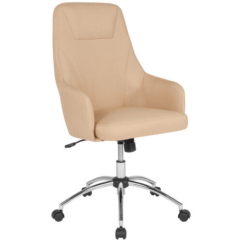 Our Rennes Home and Office Upholstered High Back Chair in Beige Fabric is on sale now.