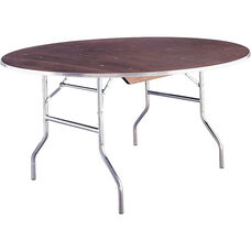 Standard Series 30'' Round Folding Banquet Table with Plywood Top