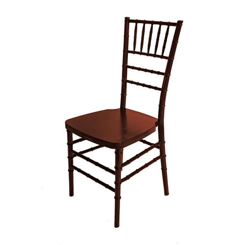 Our 1000 lb. MAX Mahogany Resin Steel Core Chiavari Chair is on sale now.