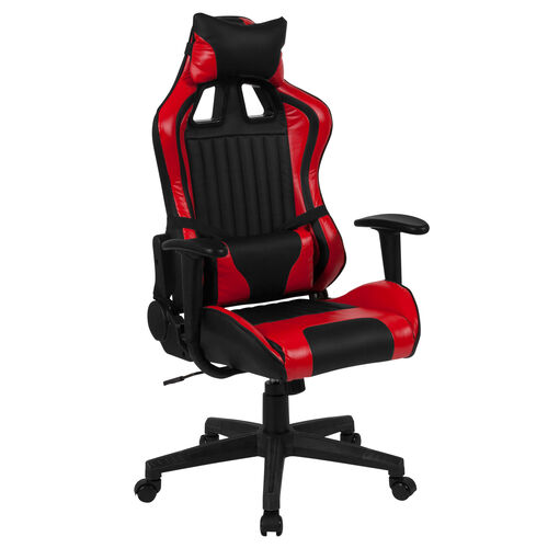 Our X20 Reclining Gaming Chair Racing Office Ergonomic PC Adjustable Swivel Chair with Adjustable Lumbar Support, Black/Red LeatherSoft is on sale now.