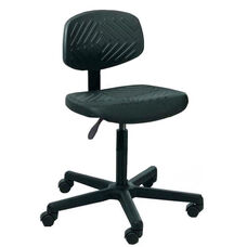Rhino Intensive Use Small Back Desk Height Chair - 4 Way Control - Black