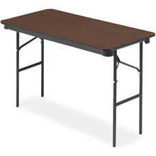 Economy Wood Laminate Folding Table With Bullnose T Mold Edge