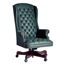 Hamilton Series Highback Wing Executive Swivel Chair with Tufts