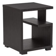 Morristown Collection End Table in Espresso Wood Finish