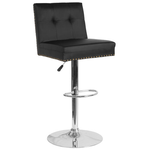 Our Ravello Contemporary Adjustable Height Barstool with Accent Nail Trim in Black LeatherSoft is on sale now.