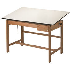 Titan II Solid Oak Drafting Table - 37.5