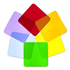 Color Wheel Square Disk Shapes for Light Table in Multi-Colored Acrylic - Set of 6