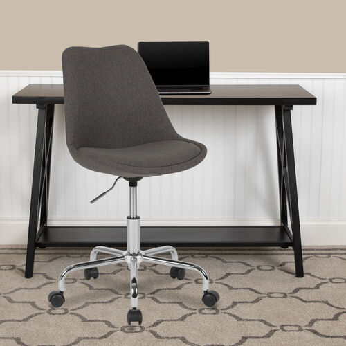 Aurora Series Mid-Back Fabric Task Office Chair with Pneumatic Lift and Chrome Base