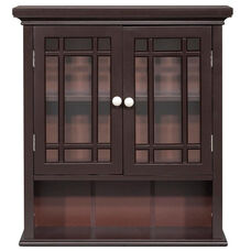 Neal Wall Cabinet with Two Doors and One Shelf - Espresso