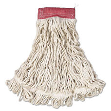 Rubbermaid® Commercial Web Foot Wet Mop - Cotton/Synthetic - White - Large - 5