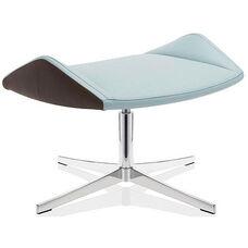 Executive Footstool on 4-Star Base - Leather