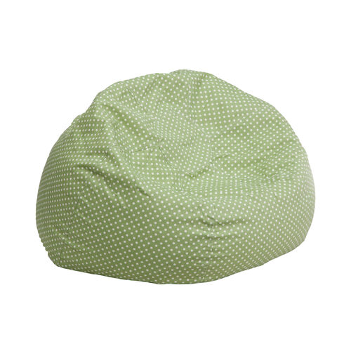 Our Small Green Dot Bean Bag Chair for Kids and Teens is on sale now.