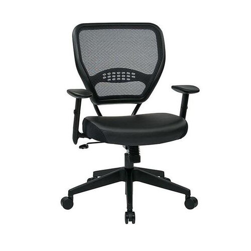 Our Space Professional Air Grid Back Managers Chair with Black Bonded Leather Seat and 2-to-1 Synchro Tilt Control - Black is on sale now.