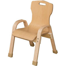 Stacking Bentwood Plywood Kids Chair with Arms - 13.88