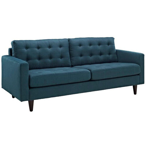 Our Empress Upholstered Sofa in Azure is on sale now.