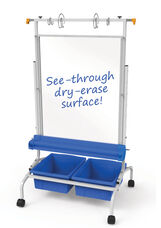 Clear Dry-Erase Chart Stand