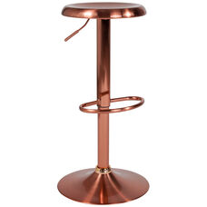 Madrid Series Adjustable Height Retro Barstool in Rose Gold Finish