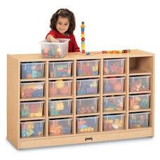 MapleWave Mobile Tray Cubbie Storage Unit