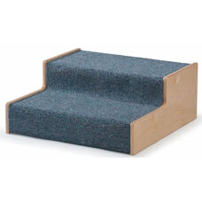 Carpeted Birch Woodscape Height Assisting Step Stool