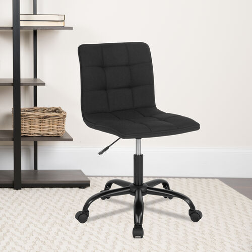 Sorrento Home and Office Task Chair in Black Fabric