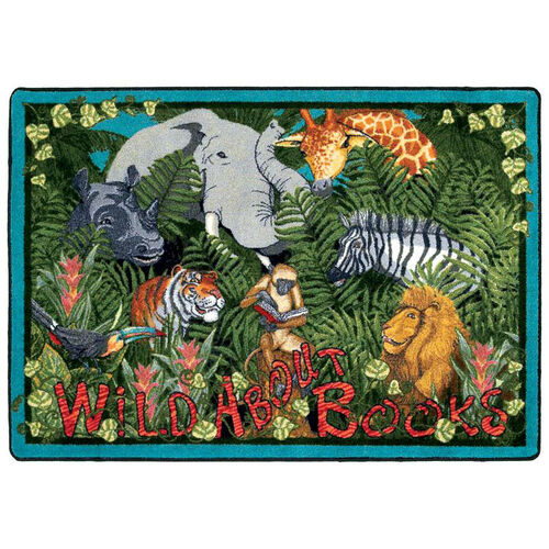 Our Wild About Books Rug is on sale now.