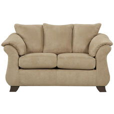 Exceptional Designs by Flash Sensations Camel Microfiber Loveseat