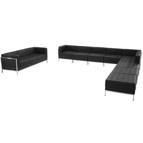 Our HERCULES Imagination Series Black LeatherSoft Sectional & Sofa Set, 10 Pieces is on sale now.
