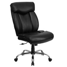 HERCULES Series Big & Tall 400 lb. Rated Black Leather Executive Swivel Chair with Full Headrest