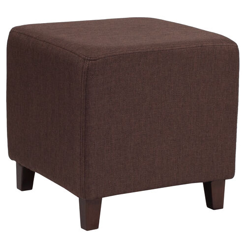 Our Ascalon Upholstered Ottoman Pouf in Brown Fabric is on sale now.