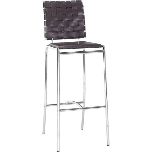 Our Criss Cross Barstool in Espresso is on sale now.