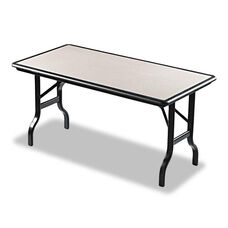 Iceberg IndestrucTables Resin Rectangular Folding Table - 60w x 30d x 29h - Granite/Black